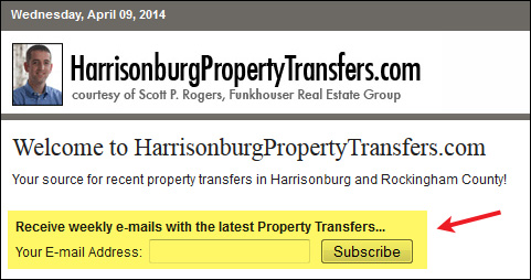 Harrisonburg Property Transfers