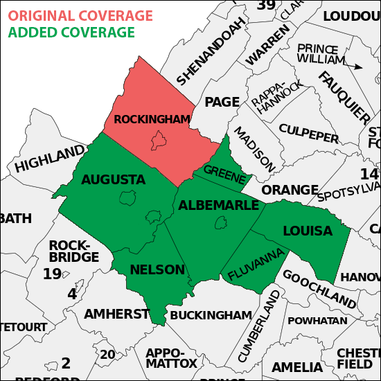 Expanded Coverage Area