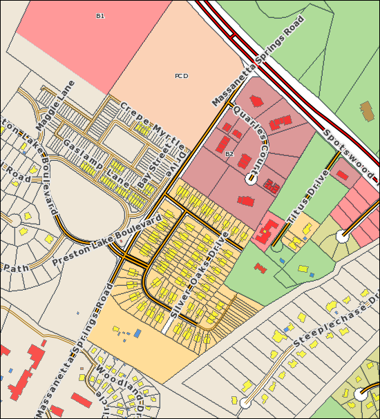 Zoning Layer in Rockingham County GIS