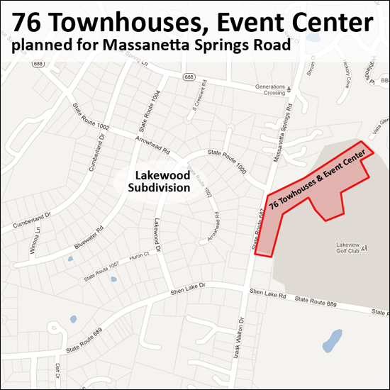 76 Townhouses, Event Center planned for Massanetta Springs Road