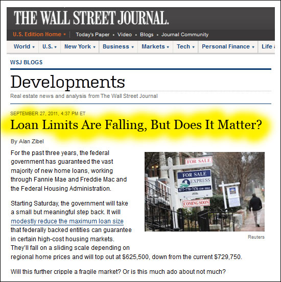 Do the changes in loan limits really matter?