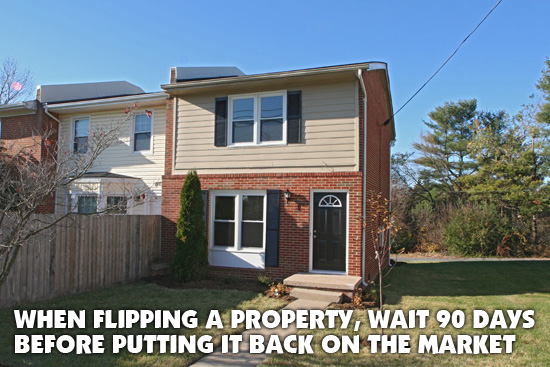 When flipping a property
