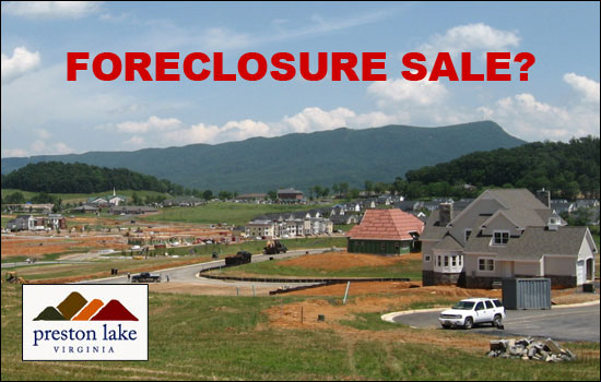 Foreclosure Sale at Preston Lake?