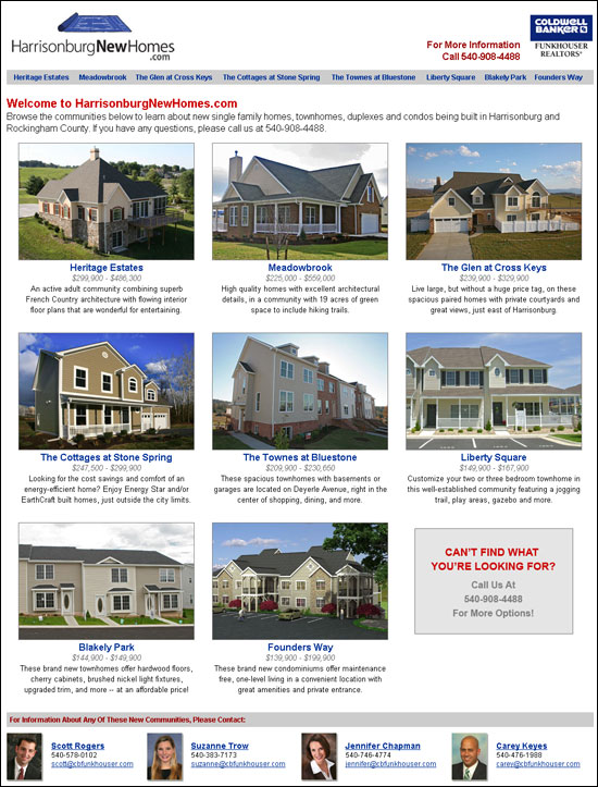 Harrisonburg New Homes