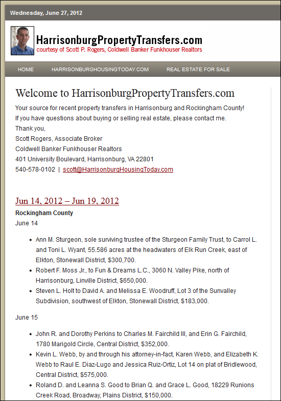 HarrisonburgPropertyTransfers.com