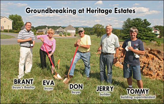 Groundbreaking at Heritage Estates