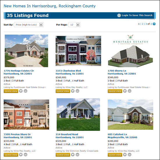New Homes in Harrisonburg, Rockingham County