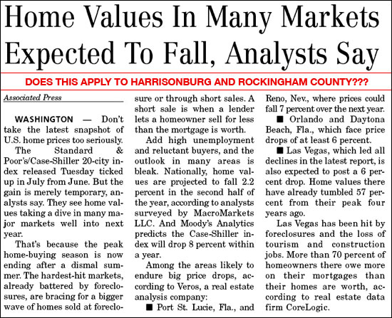 Will Home Values Fall?