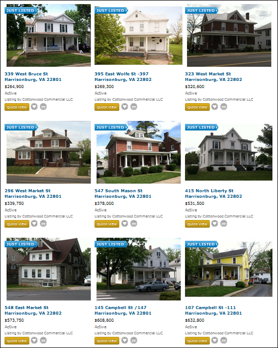 Investment Properties in Harrisonburg