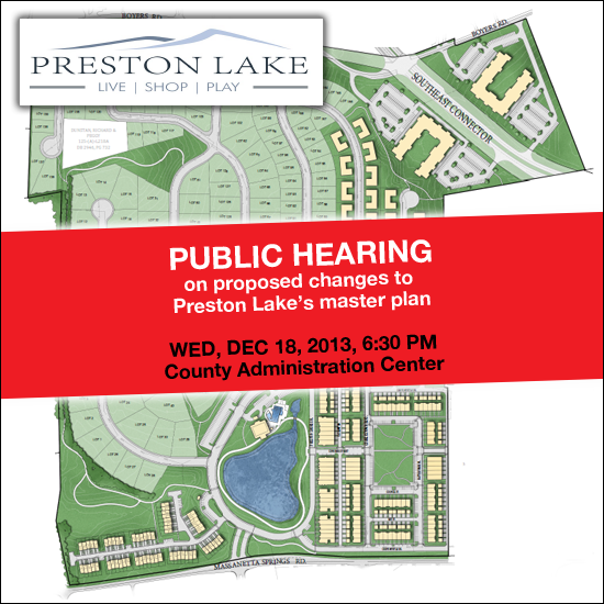 Preston Lake Public Hearing 2013