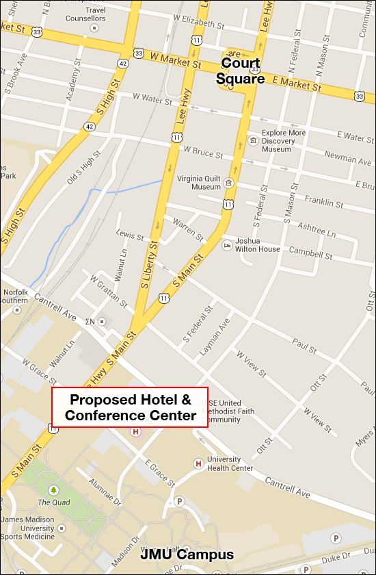 Location of Proposed Hotel and Conference Center