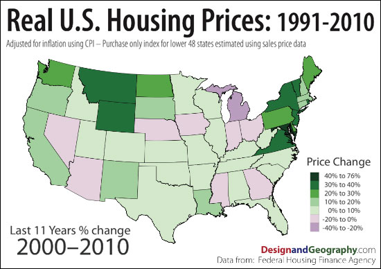 Housing Prices Over 11 Years