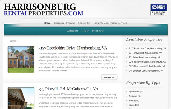 HarrisonburgRentalProperties.com