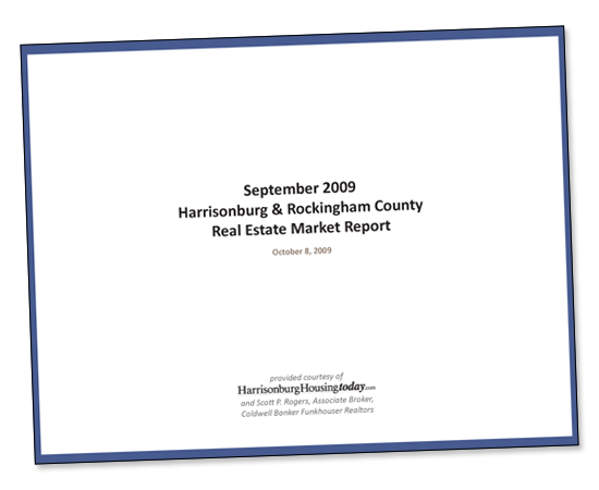 September 2009 Harrisonburg & Rockingham County Real Estate Market Report