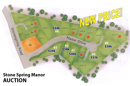 Stone Spring Manor lot auction