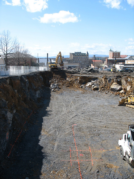 Urban Exchange - Excavation for Harrisonburg's Downtown Condos